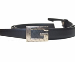 Gucci G Leather Belt 161704