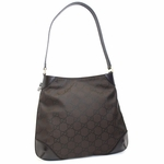 Gucci Brown Nylon Hobo