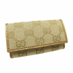 Gucci Gold Leather Key Case 260989