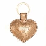 Gucci Gold Patent Leather Heart Key Chain Ring 199915 AZA1G