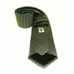 Gucci Green and White Silk Tie 255593