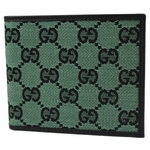 Gucci Green Jacquard Wallet 260987