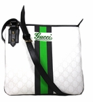 Gucci Green/Navy Web Cross Body Messenger 239347 FJ15G