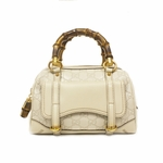 Gucci Guccissima Bamboo Handle Handbag 159401