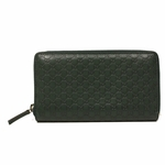 Gucci Guccissima Leather Zip Around Wallet 307987, Dark Hunter Green