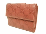Gucci Guccissima Pink Leather Wallet 143387