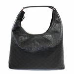 Gucci Holiday Hobo Black Leather 257279