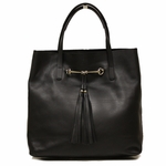 Gucci Horsebit Medium Sized Soft Leather Tote Bag 297005