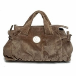 Gucci Hysteria Hobo Handbag Suede Dove Grey