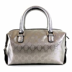 Gucci Imprime Silver Boston Bag