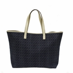 Gucci Interlocking GG Logo Blue Denim and Leather Open Tote Bag 257245