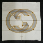 Gucci Ivory GG Chain Scarf 233724