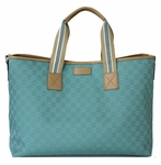 Gucci Jacquard Diaper Bag Blue 257298