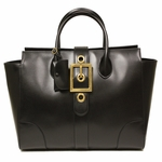 Gucci Lady Buckle Large Black Leather Business Tote Bag 323650