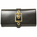 Gucci Lady Buckle Large Black Leather Clutch Bag 323653