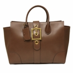 Gucci Lady Buckle Large Mauve Leather Business Tote Bag 323650