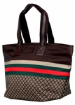 Gucci Large Diamante Travel Tote Brown