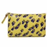 Gucci Large Yellow Leather Heart Zip Cosmetic Case Clutch Bag 338815