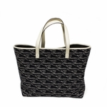Gucci Lasso Navy Blue Denim and Leather Open Tote Bag 257245