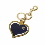 Gucci Leather Interlocking GG Logo Heart Key Ring Chain 338795 AQ60G