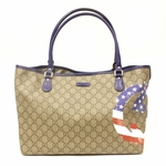 Gucci Limited Edition American GG Flag Shoulder Tote Bag 203693