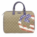 Gucci Limited Edition American USA Flag Boston Bag 195451