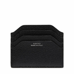 Gucci 'Made in Italy' Black Pigskin Leather Business Card Case 322107
