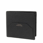 Gucci 'Made in Italy' Pigskin Leather Bi-Fold Wallet 322102, Black