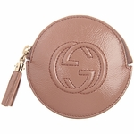 Gucci Mauve Pink Patent Leather Zip Coin Purse 337946