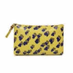 Gucci Medium Yellow Leather Heart Zip Cosmetic Case Bag 338816