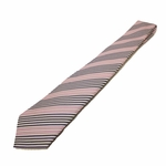 GUCCI Men's Striped Woven Silk Tie Pink & White 336399