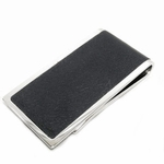 Gucci Men's Money Clip Wallet Leather Silver