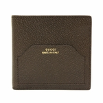 Gucci Men's Pigskin Leather Bi-Fold Wallet 322102, Brown
