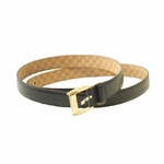 Gucci Mens Navy Blue Leather Belt  271849