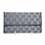 Gucci Metallic Checkbook Wallet 257303