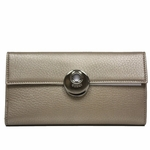 Gucci Metallic Leather Continental Flap Wallet 231835, Gold
