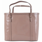 Gucci Micro 'GG' Guccissima Patent Leather Tote Bag 309613, Nude Pink