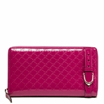 Gucci Microguccissima Pink Patent Leather Zip Around Wallet 309756