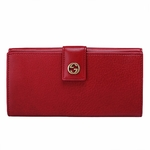Gucci Miss GG Red Leather GG Continental Wallet 337335