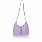 Gucci New Jackie O Women's Shoulder Bag Wisteria Purple Lilac Leather 277520