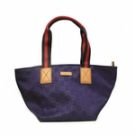 Gucci Nylon and Leather GG Logo Navy Web Tote Bag 374433