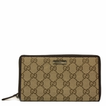 Gucci Original Canvas and Leather Zip Around Wallet 307980