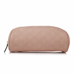 Gucci Pink Guccissima Leather Signature Cosmetic Pouch 277649 AA60N