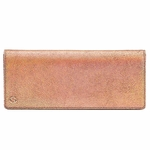 Gucci Pink Rose Gold Broadway Crackled Metallic Leather Clutch Bag 342630