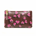 Gucci Purple Leather Heart Medium Zip Cosmetic Case Bag 338816