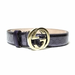 Gucci Purple Patent Leather Belt 114874