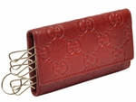 Gucci Red Guccissima Key Case 260989