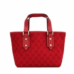 Gucci Red Canvas and Leather Jacquard Joliquer Tote Bag 257249
