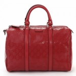 Gucci Red 'Joy' Boston Bag 193603