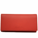 Gucci Red Leather Continental Flap Wallet 305282